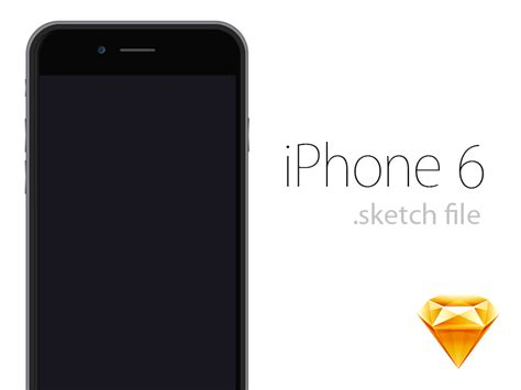iphone 6 template apple iphone 6 sketch freebie free resource for