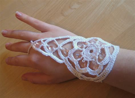 Crochet Ring Bracelet beaded bracelet ring interweave
