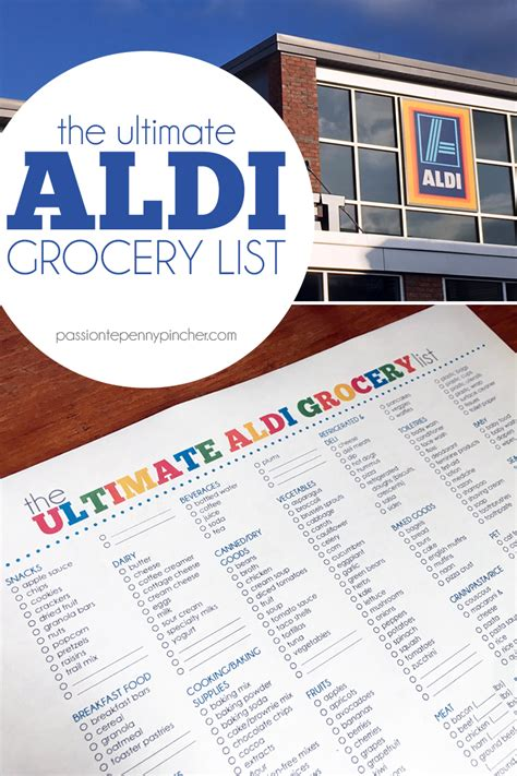 aldi printable shopping list the ultimate aldi grocery list passionate penny pincher