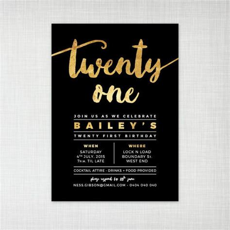 21st invitation templates the 25 best ideas about 21st birthday invitations on