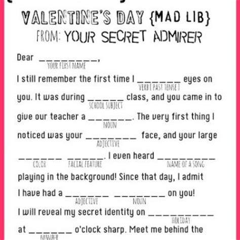 free valentines mad lib activity valentines mad lib printable valentines printable tip