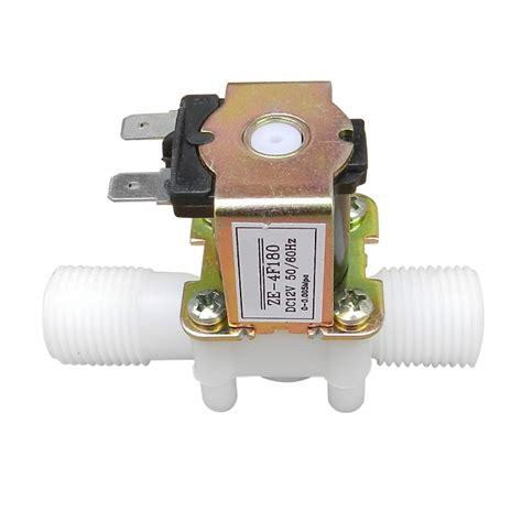 Solenoid Plastik 1 12v 1 2 quot n c plastic electric solenoid valve magnetic