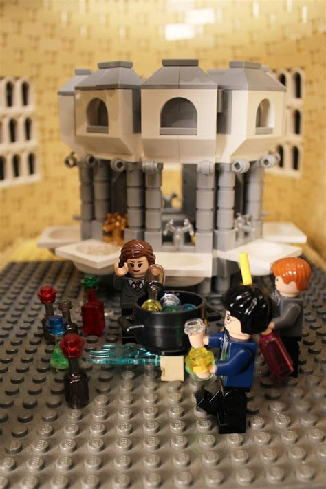 lego harry potter bathroom woman spends a year building 400 000 piece lego replica of