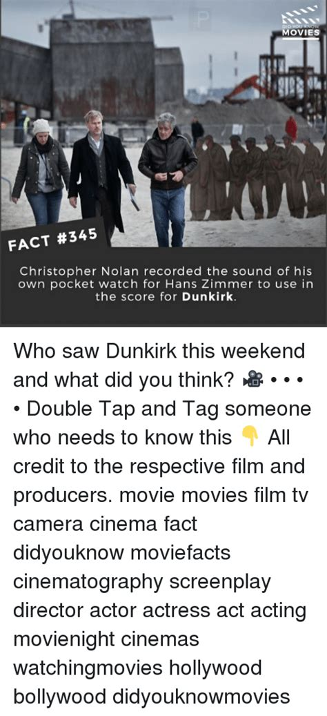 dunkirk film score movies fact 345 christopher nolan recorded the sound of
