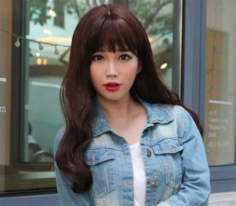 waivy korean hair style thick wavy style long hair wig korean fashion