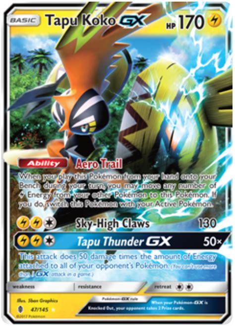 gx card template high resolution tapu koko gx guardians rising 47 card