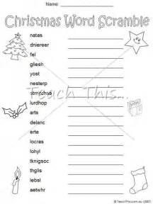 word scramble christmas teacher resources worksheets
