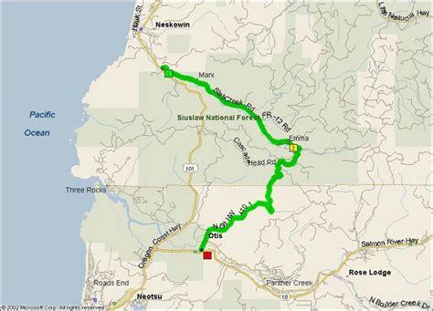 map of otis oregon slab creek road scenic 101 motorcycle roads northwest