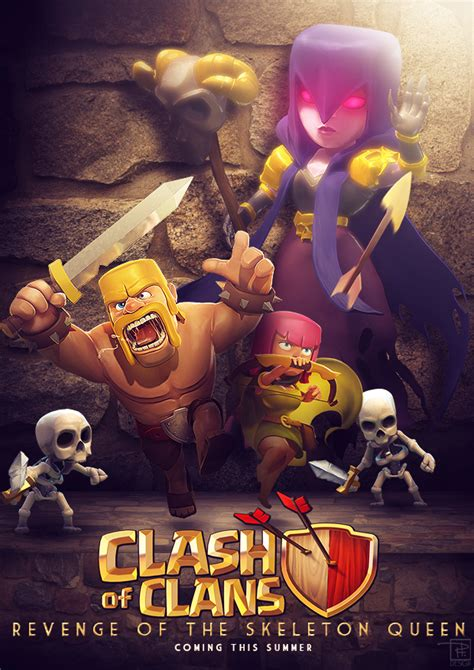 film layar lebar clash of clans clash movie poster art contest page 61