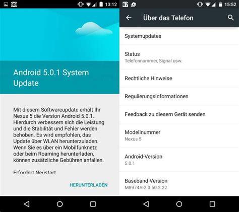 android 5 0 update android 5 0 1 regul 228 res ota update f 252 r nexus 5 und nexus 4 gestartet cnet de