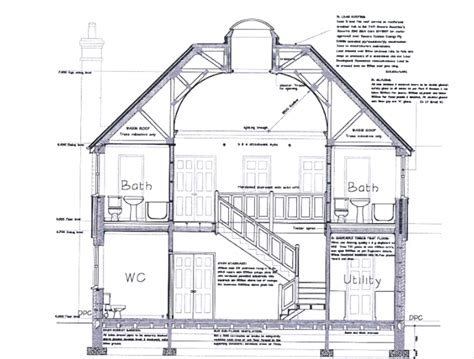 section houses cross section house drawing quotes