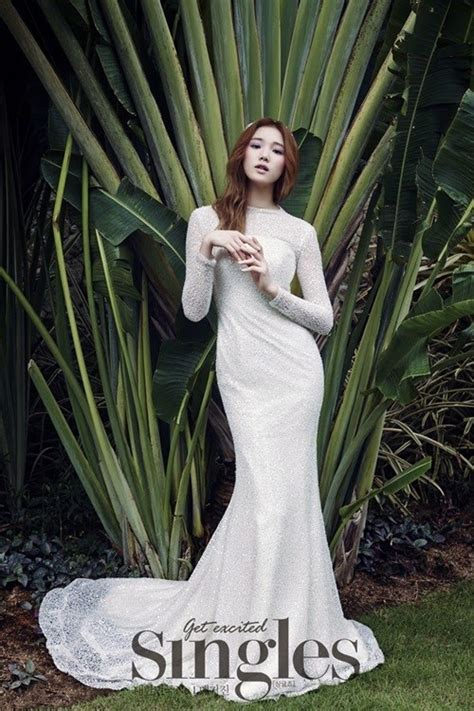 wedding pictorial sung kyung s wedding dress pictorial for singles yg