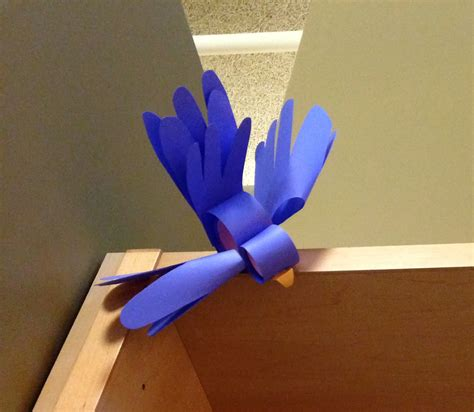 How To Make A Bird Out Of Construction Paper - librarian on display crafts diy paper bird