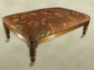 Traditional Upholstery Fabric Footstools