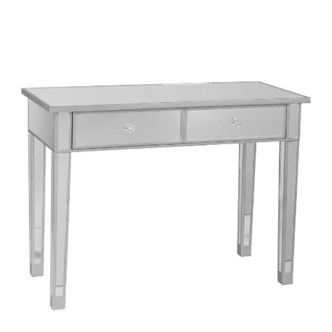 cheap mirrored console table with drawers black friday sei mirage mirrored 2 drawer console table