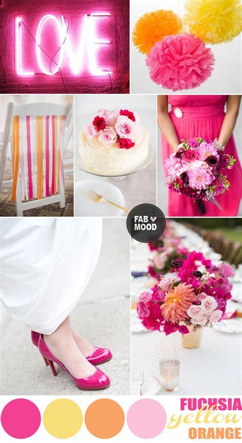 Fuchsia Wedding Colors Summer Wedding Colors Palette