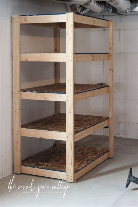 diy basement shelving canning diy wood shelves