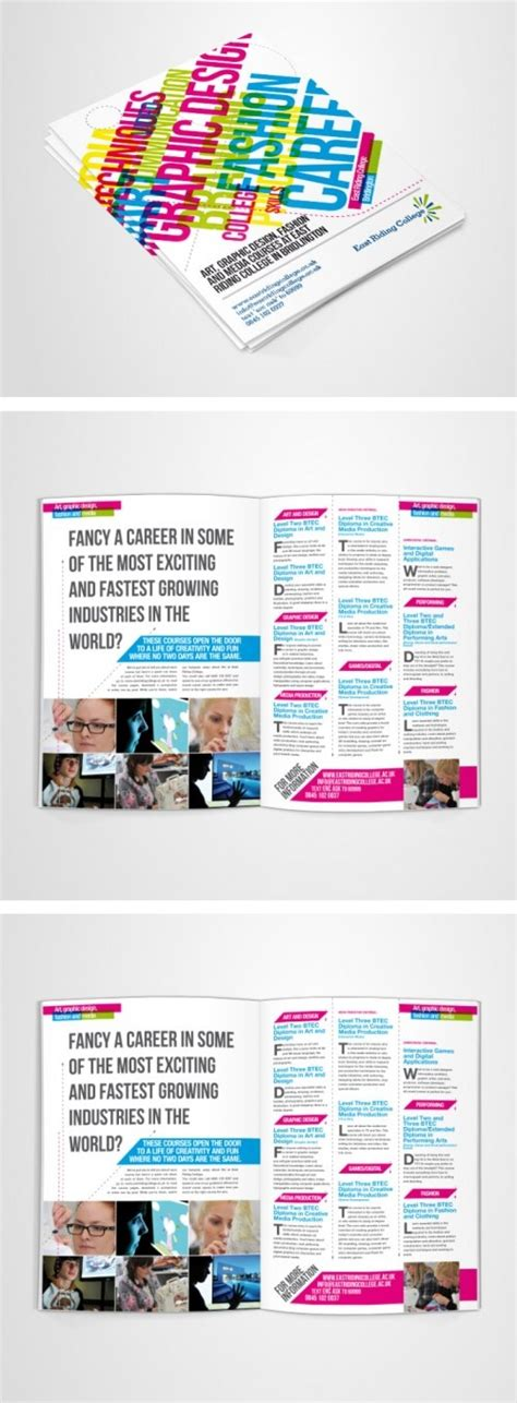 brochure layout text design prospectus for east riding college the overlapping