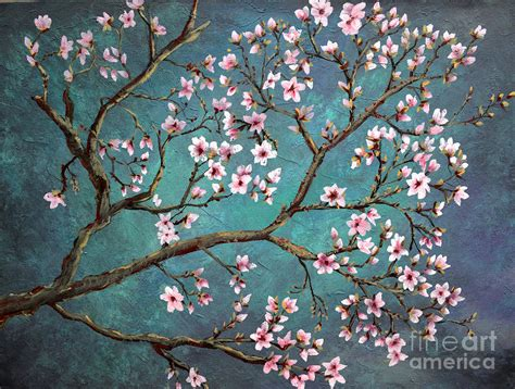 Apartment Plans by Cherry Blossom Painting By Nancy Bradley