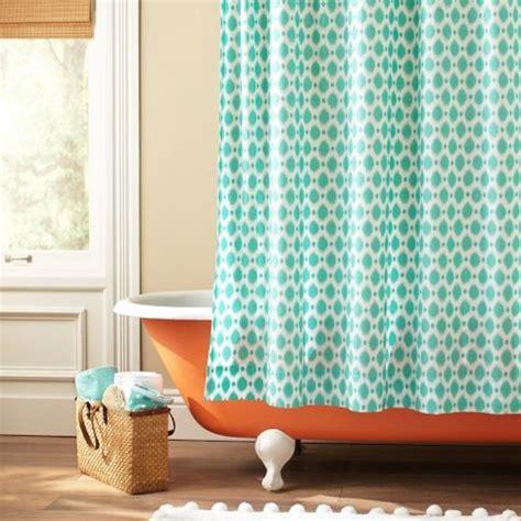 pbteen curtains ikat dot organic shower curtain eclectic shower