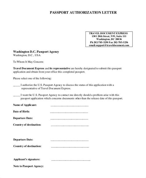 Parental Consent Form For Passport Sample