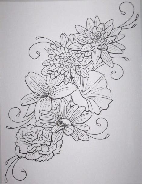 flower collage tattoo designs flowers free pictures