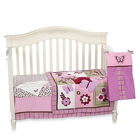 bed bath and beyond crib bedding buy nojo 174 emily 8 piece crib bedding set from bed bath beyond
