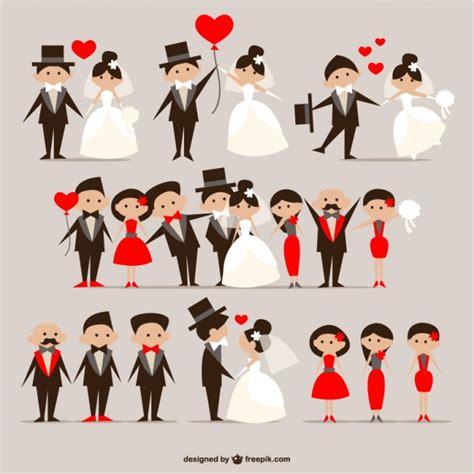 desain dress vector wedding couples pack vector free download