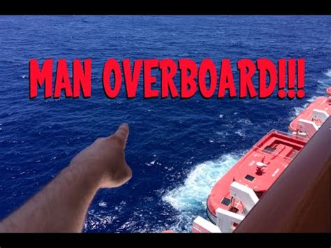 falling out of boat funny man falls off cruise ship youtube