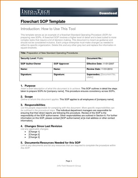 sle of sop template sop templates for word 28 images writing a standard