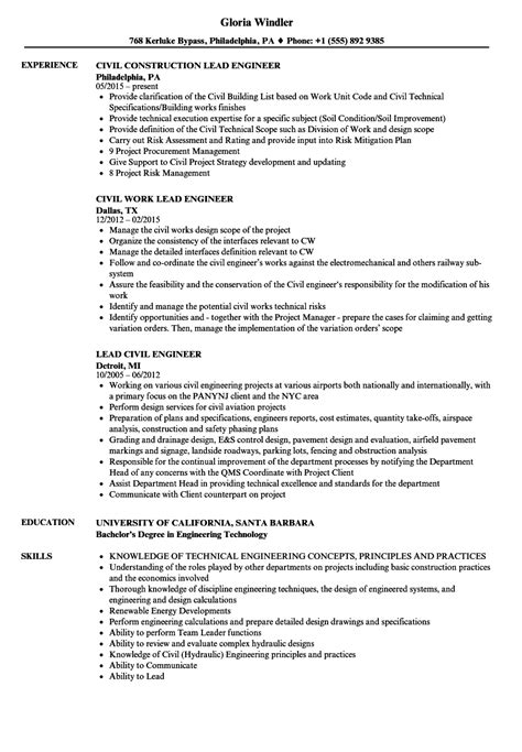 sample of resume for civil engineer sample resume civil