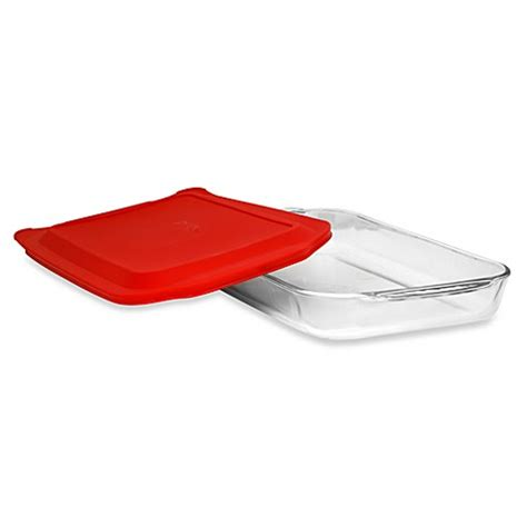 plastic cover bed bath beyond pyrex 174 4 quart oblong glass baking dish with plastic
