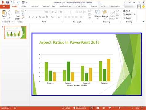 Powerpoint Layout Ratio | change presentation aspect ratio from widescreen to