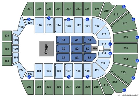Blue Cross Arena Box Office by Island Medium Tour Tickets Seating Chart Blue