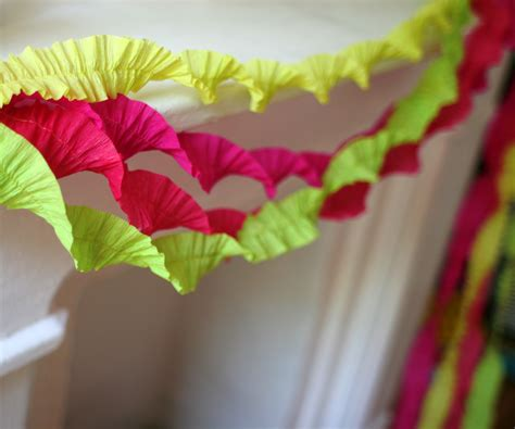 How To Make Decorations With Paper - crepe paper decorations domesticspace