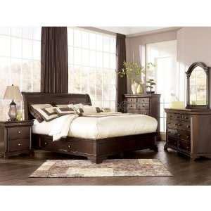 Leighton Sleigh Bedroom Set beautiful 4 5 piece king ashley furniture bedroom set