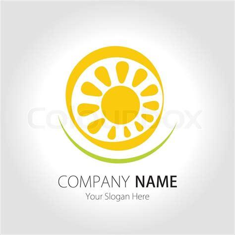 company sun company business logo design vector sun stock vector colourbox