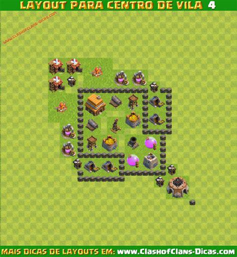 layout coc cv 4 melhores layouts para clash of clans centro de vila n 237 vel