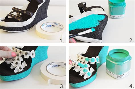 diy shoes tutorial diy restyled wedges