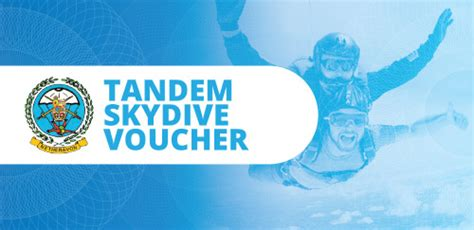 Vouchers 187 Tandem 187 Home Skydiving Gift Certificate Template