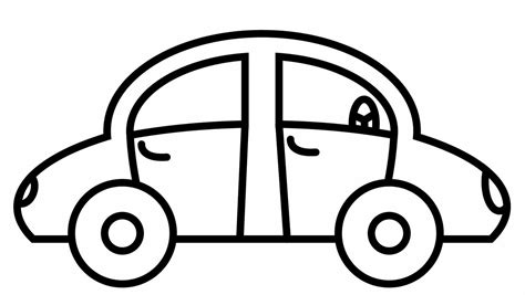 car simple coloring pages print coloring