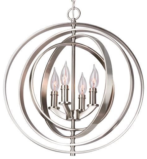 Nw Contemporary Silver Chrome Orb Orbits 18 Quot 4 Light Modern Sphere Orb Chandelier Brushed