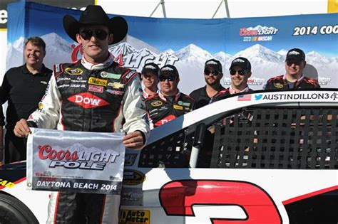 coors light pole qualifying dillon puts famed no 3 on pole for daytona 500