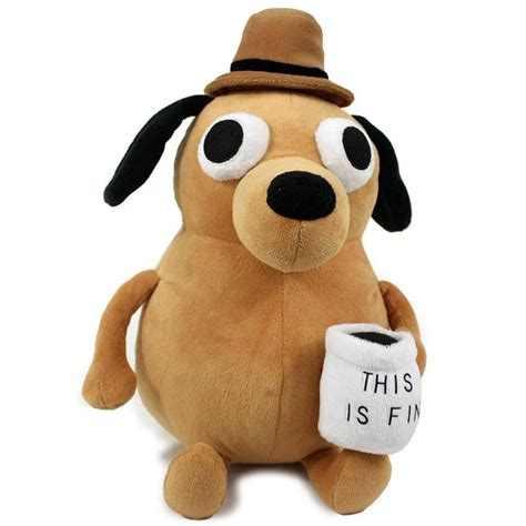 this is fine plush dog topatoco