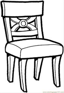 Chair Coloring Pages Sheets Online  sketch template