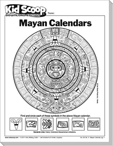 make a mayan calendar mayan calendar kid scoop