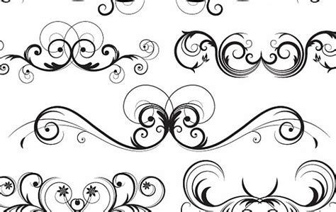 free vector doodle swirls sierlijke vector swirls gratis vector