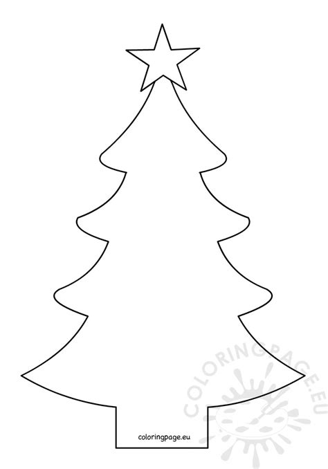 how to shape a christmas tree tree shape with fivepointed coloring page