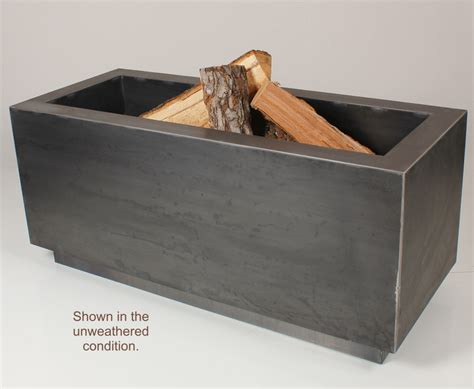 pit kit wood burning 48 inch rectangular wood burning pit with gas kit