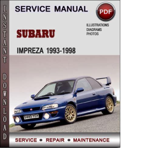 car repair manual download 1995 subaru impreza navigation system subaru impreza 1993 1998 factory service repair manual download pdf